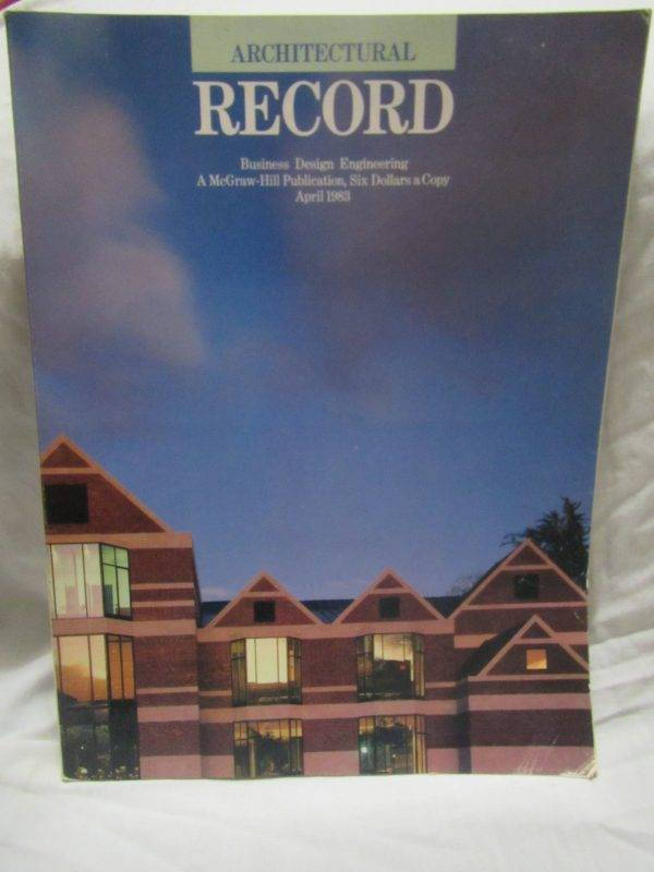 architecture record april 1983 magazine