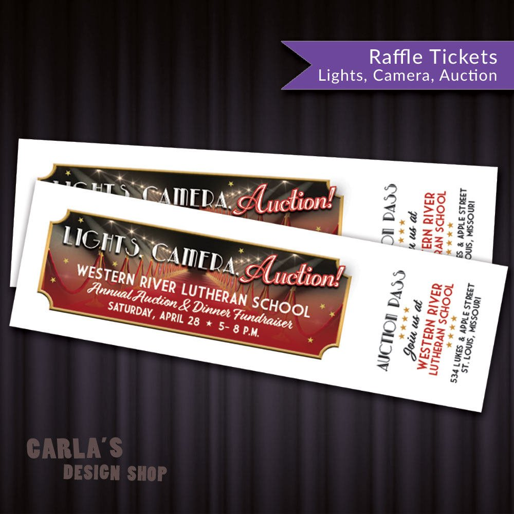 auction event ticket example