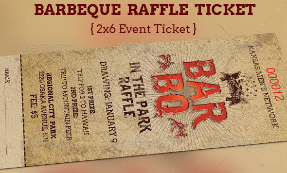 barbeque raffle ticket template example