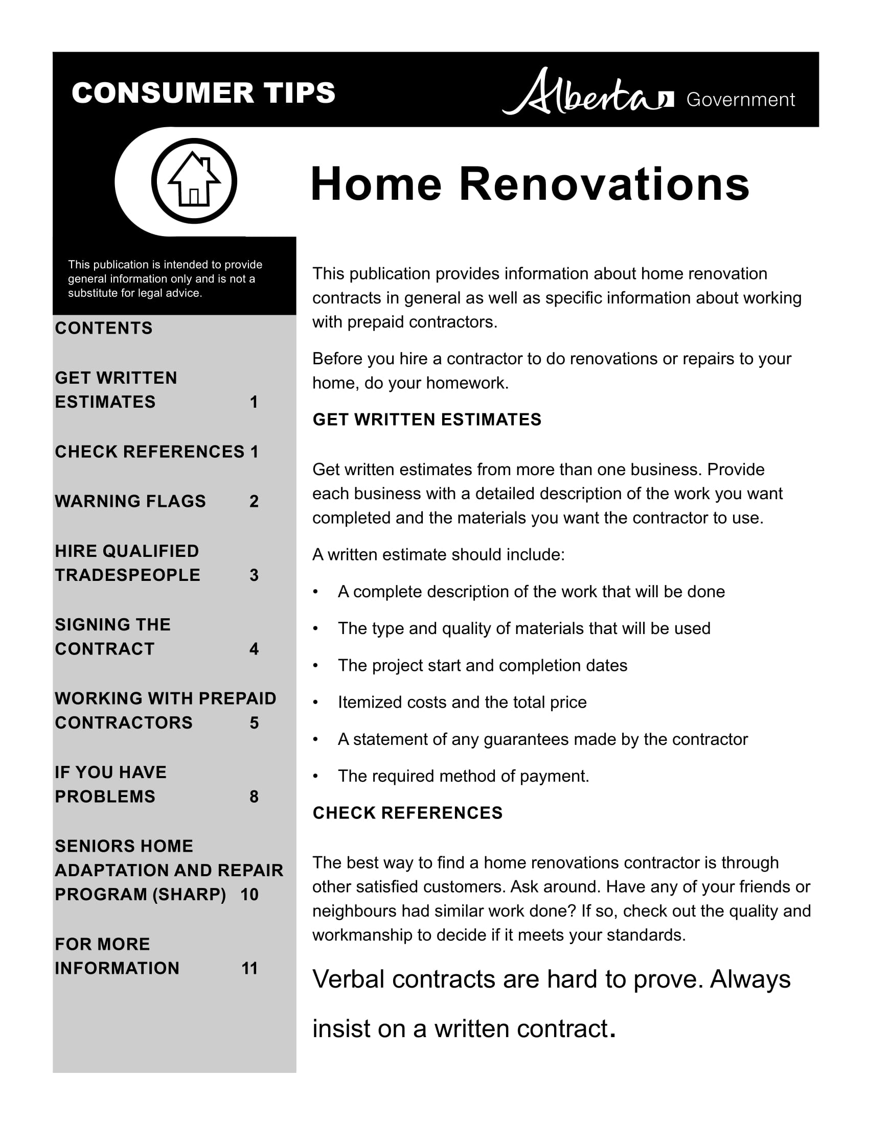 Bathroom And Home Renovation Contract Template Example