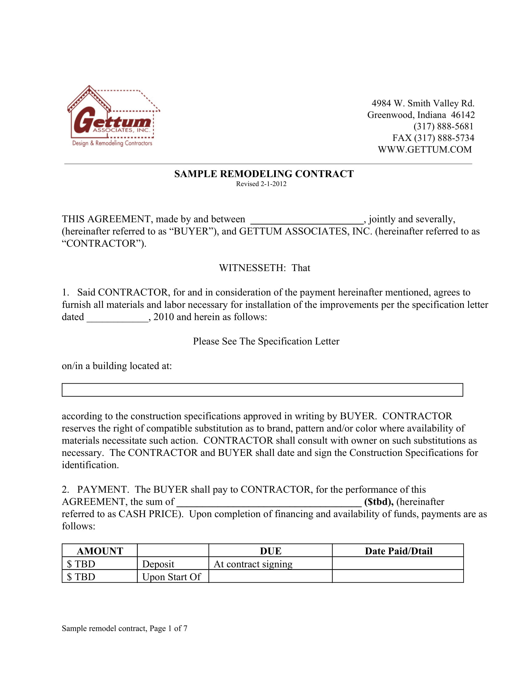 9 bathroom renovation contract template examples pdf for Bathroom renovation contract template