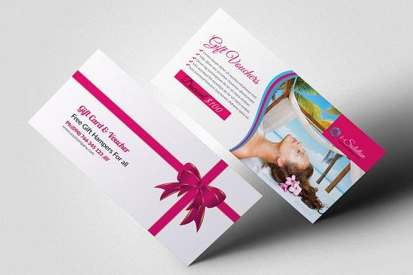beauty spa gift voucher design