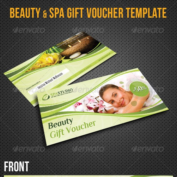 beauty and spa gift voucher