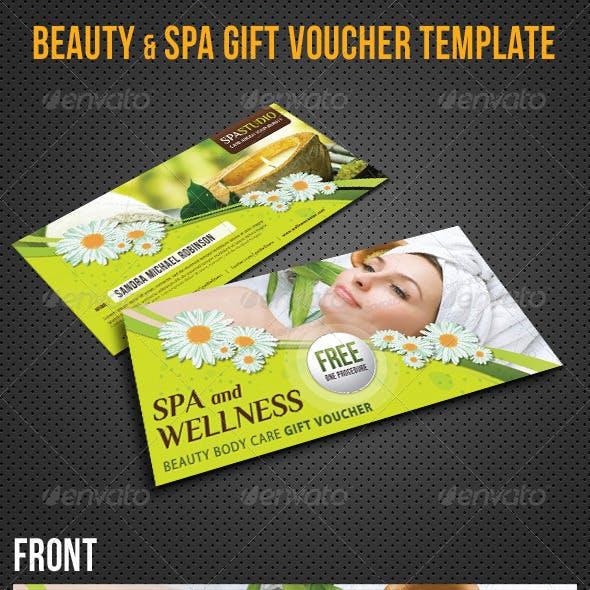 beauty and wellness spa voucher template