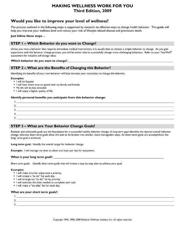 9 Behavior Change Contract Examples Pdf Examples