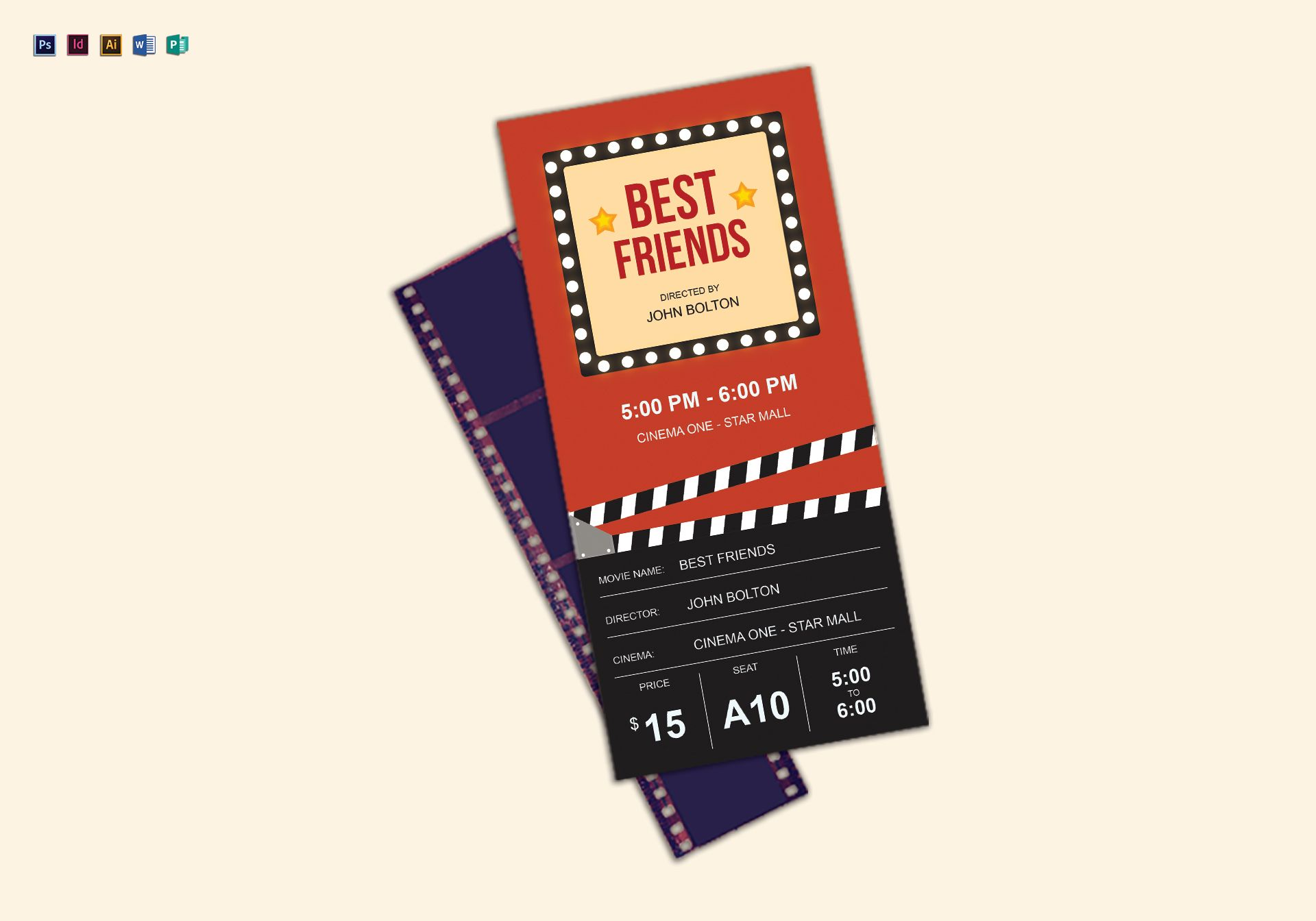 best movie ticket example
