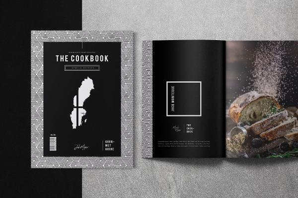 black printable cookbook catalog example1