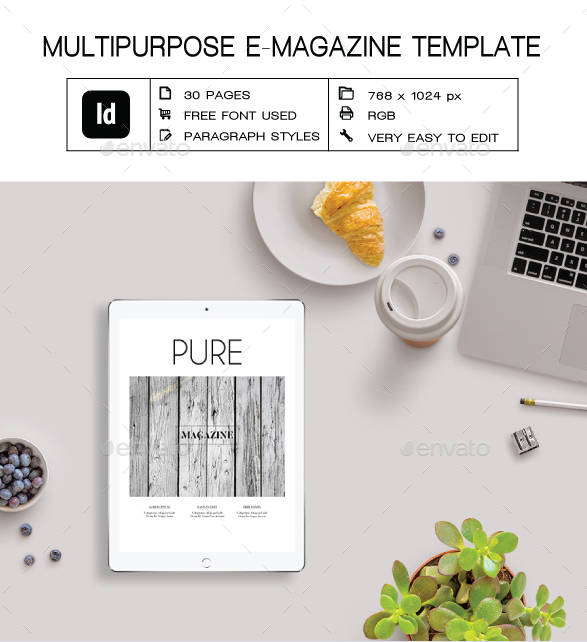 black and white e magazine example