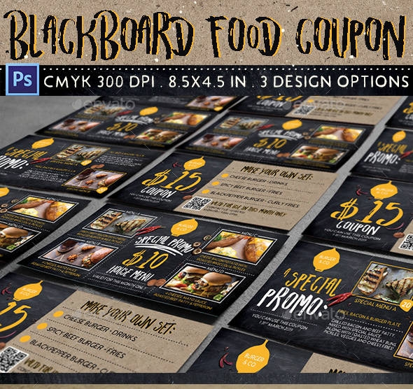 blackboard food fitness coupon example