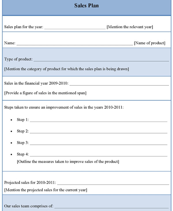 blank annual sales plan example1
