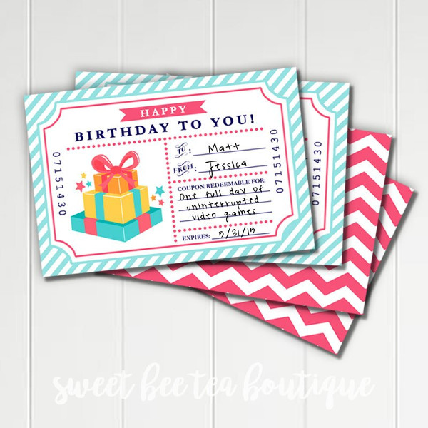 blank birthday coupon example