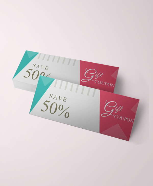 blank gift coupon template