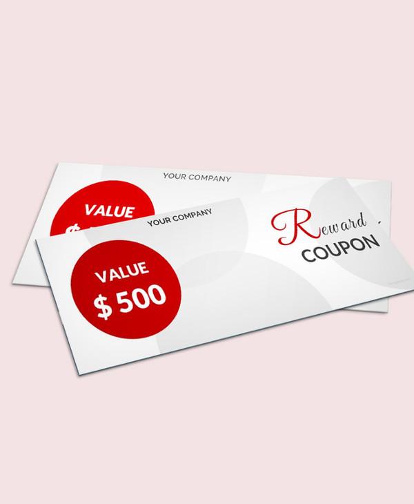 blank reward coupon template