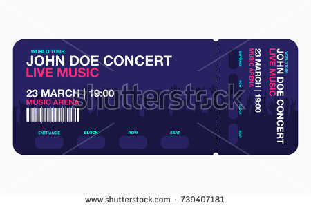 blue live concert ticket example2