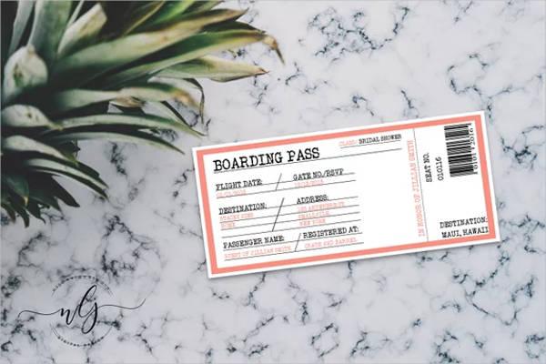 boarding pass destination wedding bridal shower invitation design