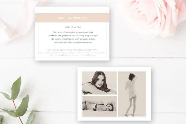 boudoir photography referral coupon example