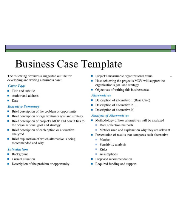 business case template1