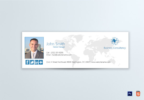 business consultancy email signature template