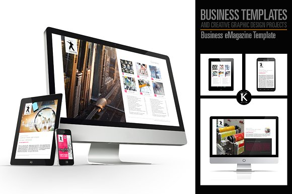 business e magazine template example