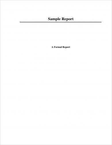 business management and process analysis report format example
