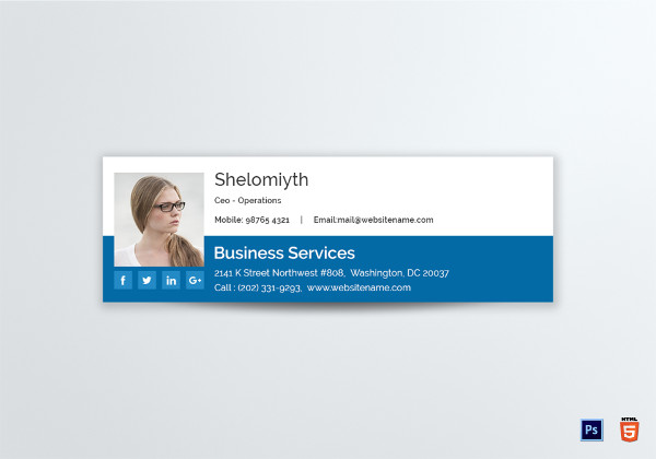 business service email signature template