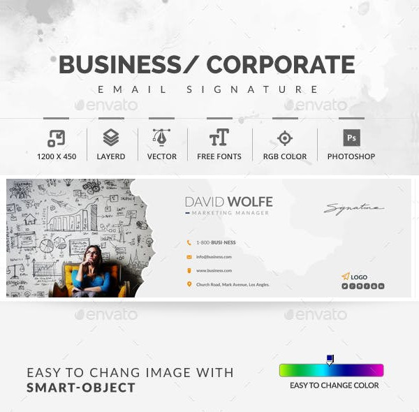 business or coporate innovative email signatures1