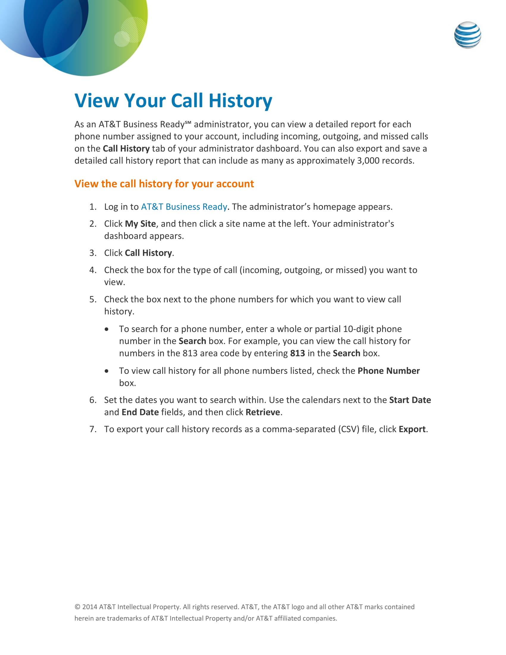 call log history example 1
