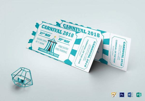 carnival event invitation ticket example1