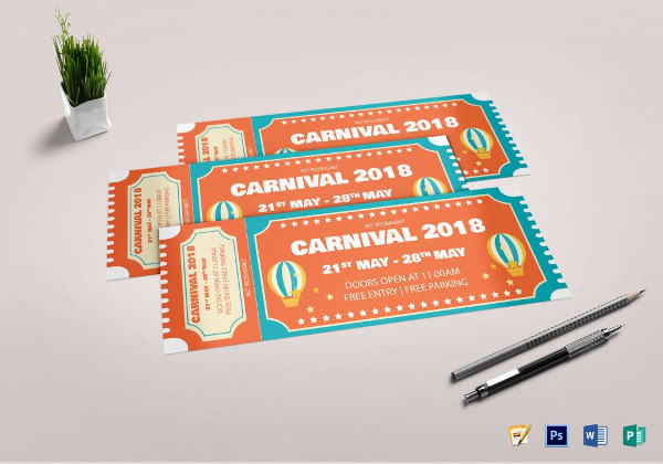 carnival event ticket example1