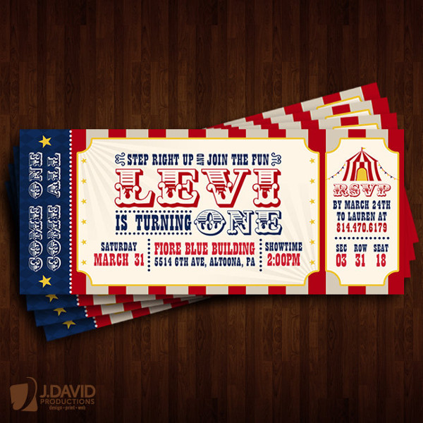 carnival theme ticket example1