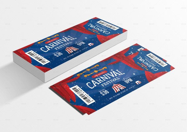 carnival ticket example in psd