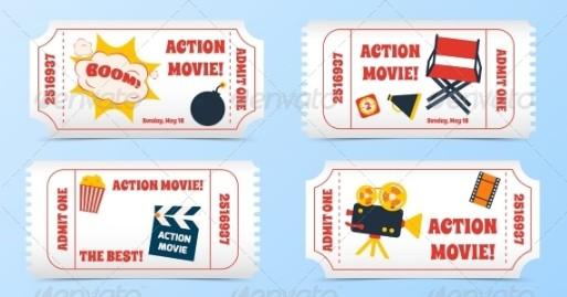 cartoon movie ticket invitation example