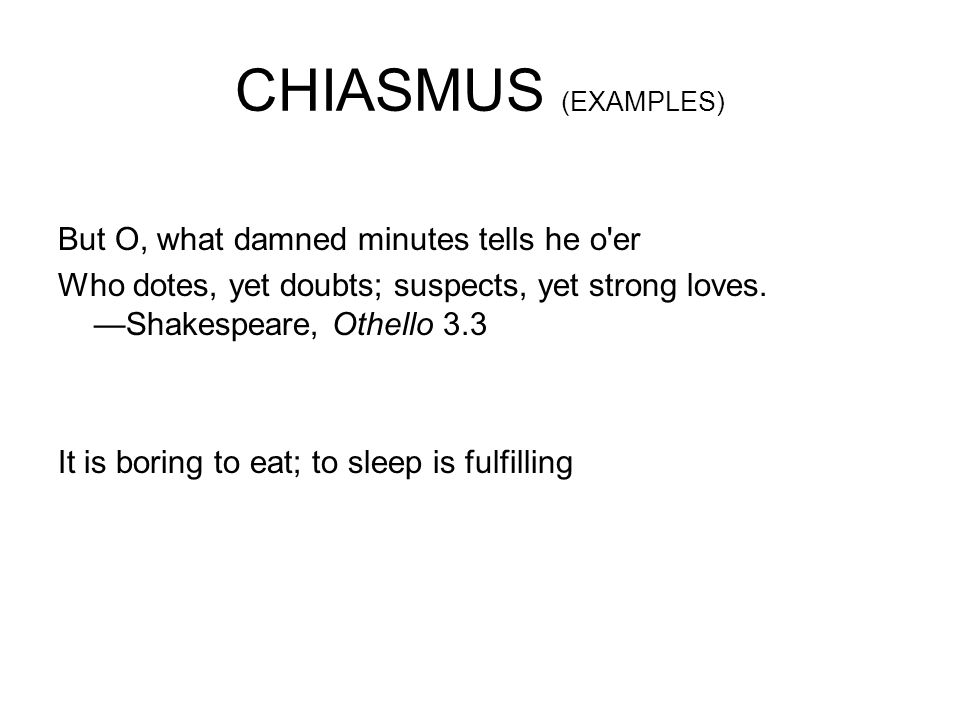 chiasmus example from literature