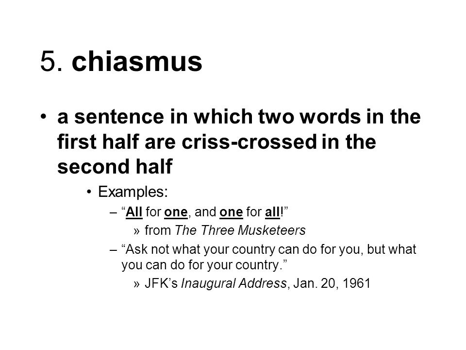 chiasmus meaning and example