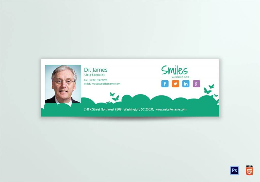 childrens doctor email signature example 1024x717