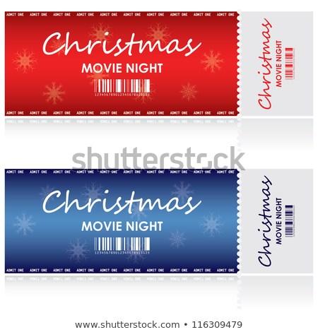 christmas movie night ticket template example