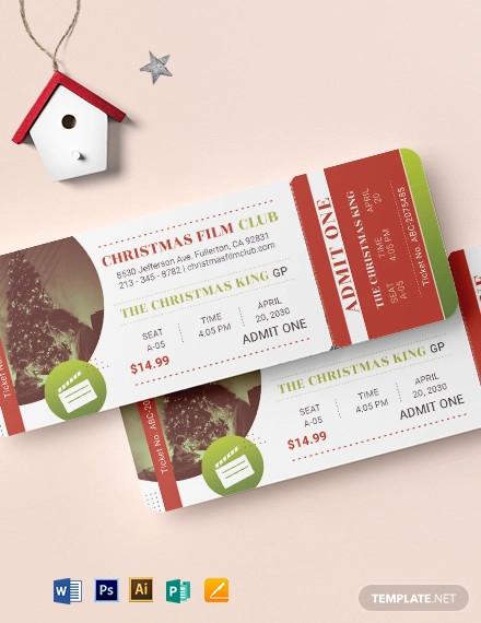 christmas movie ticket template1