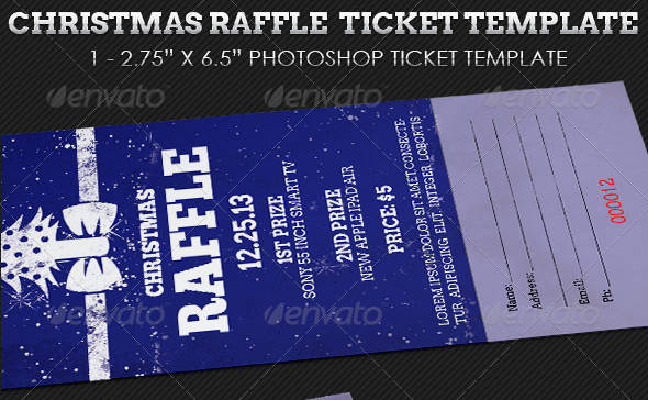 christmas raffle ticket template example1