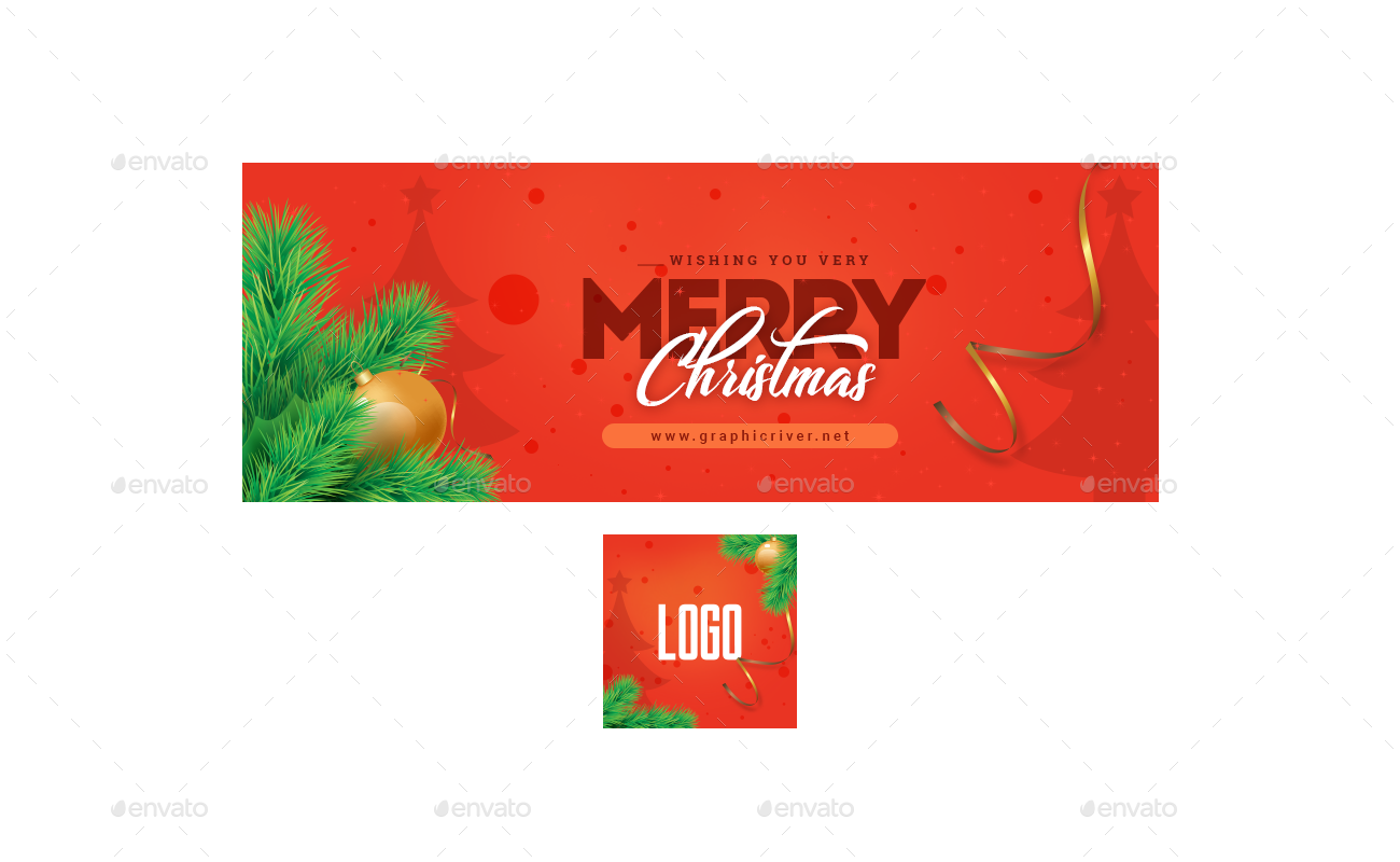 christmas social media banner example