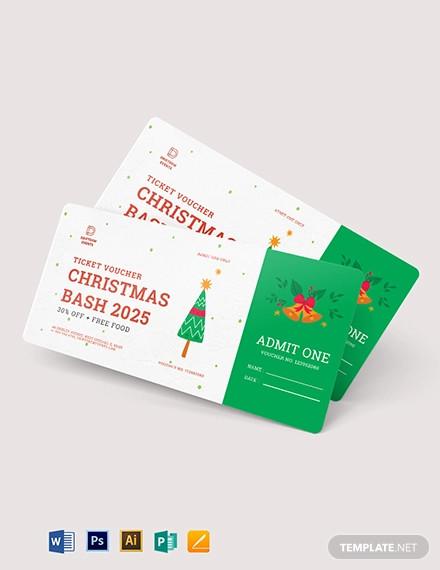 christmas ticket voucher template