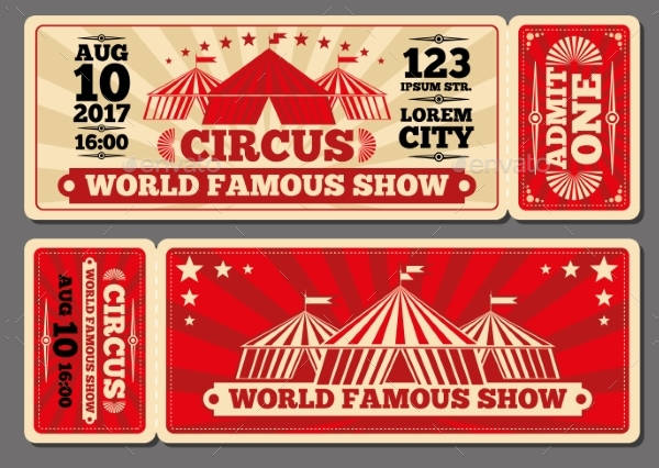 circus magic show entrance tickets