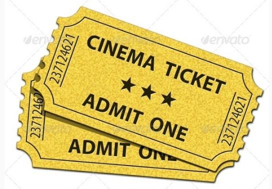 classic movie ticket invitation example