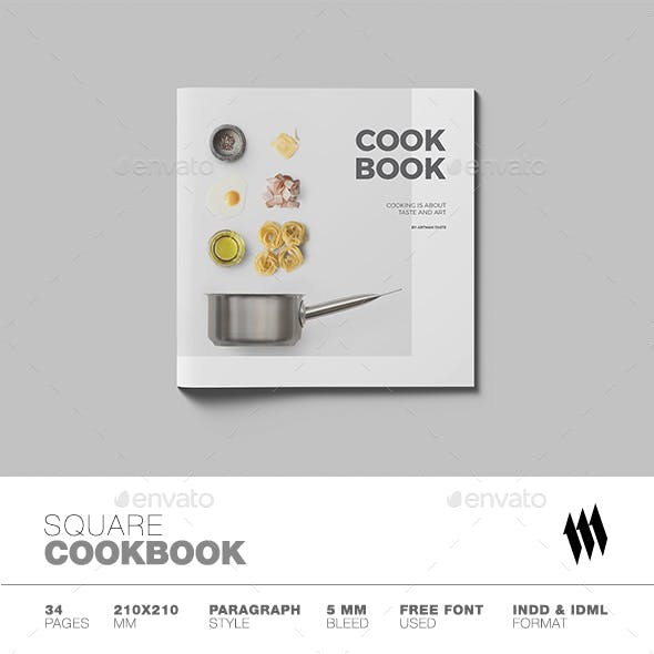 clean and crisp square cookbook catalog
