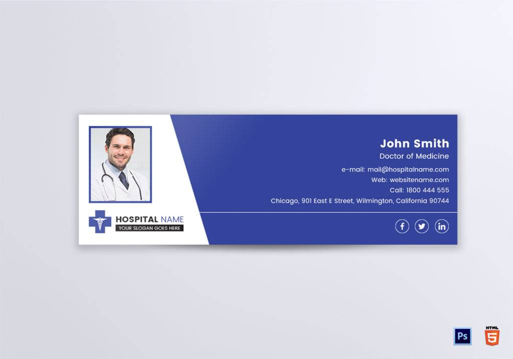 clinic doctor email signature example 1024x717