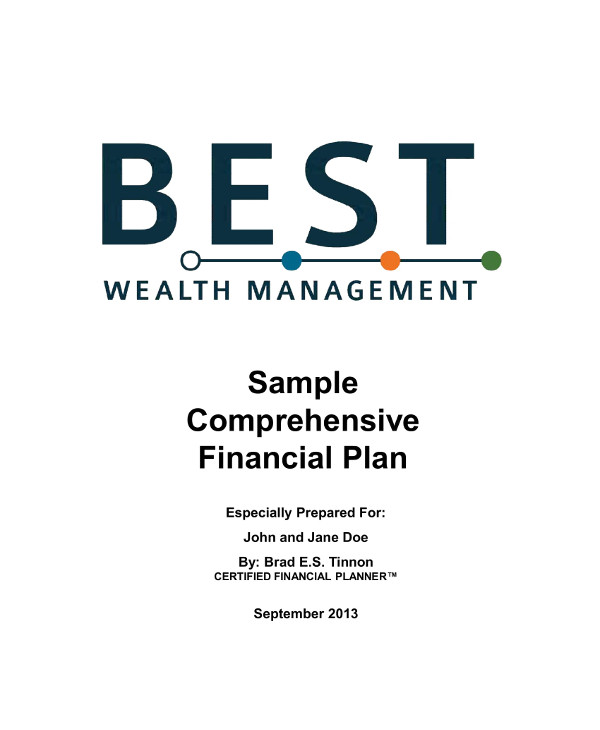 comprehensive financial plan for business wealth management example