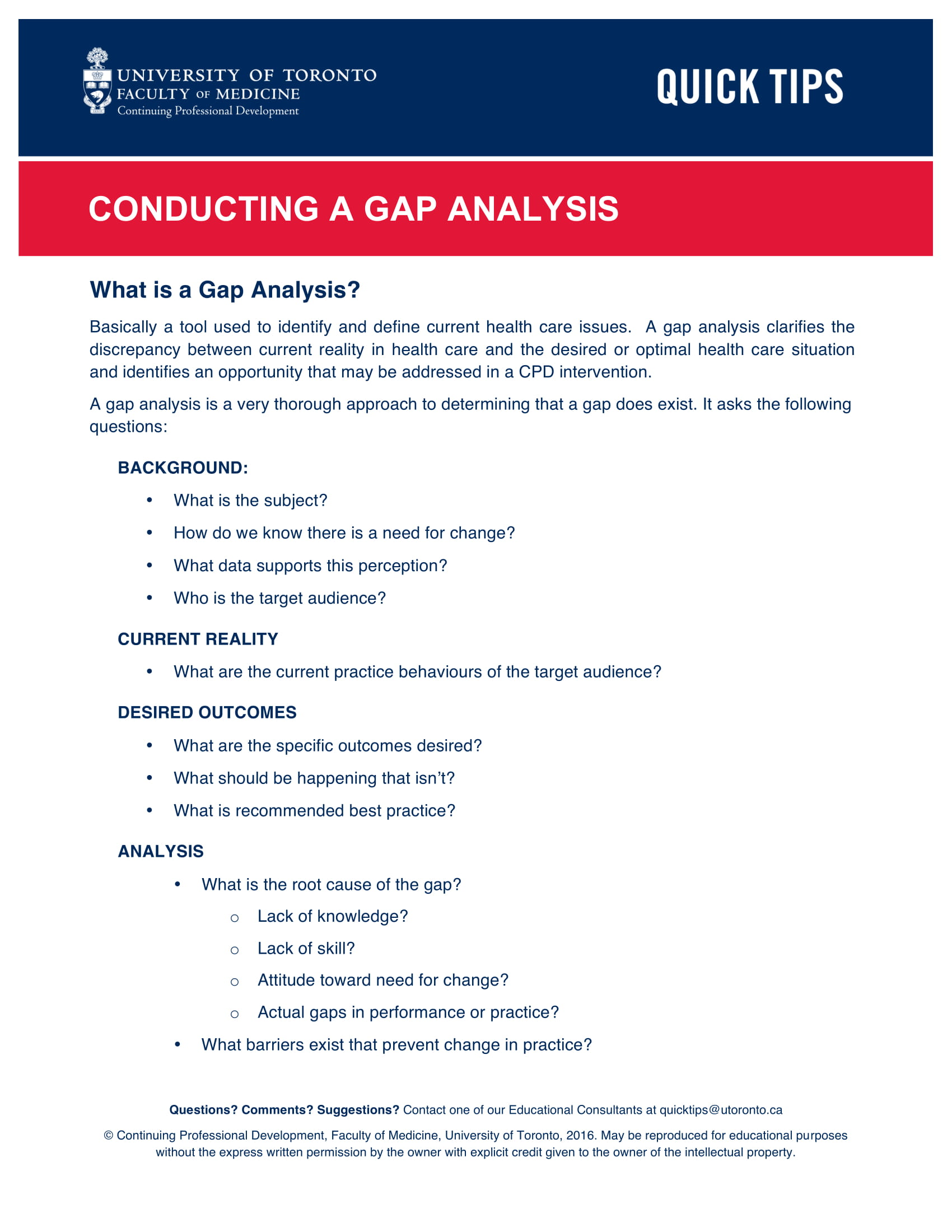 conducting a gap analysis in the healthcare industry example 1