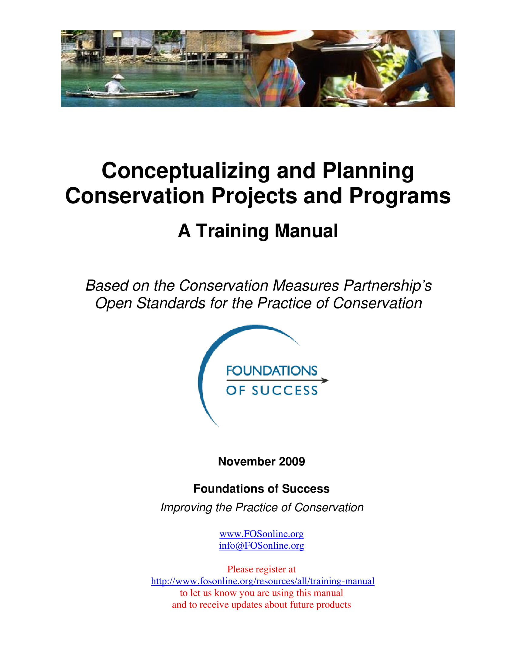 conservation projects and programs conceptualizing and action planning training manual example 001