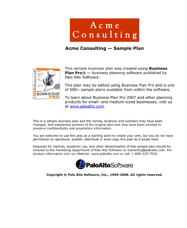 7 Social Media Consulting Business Plan Examples Pdf