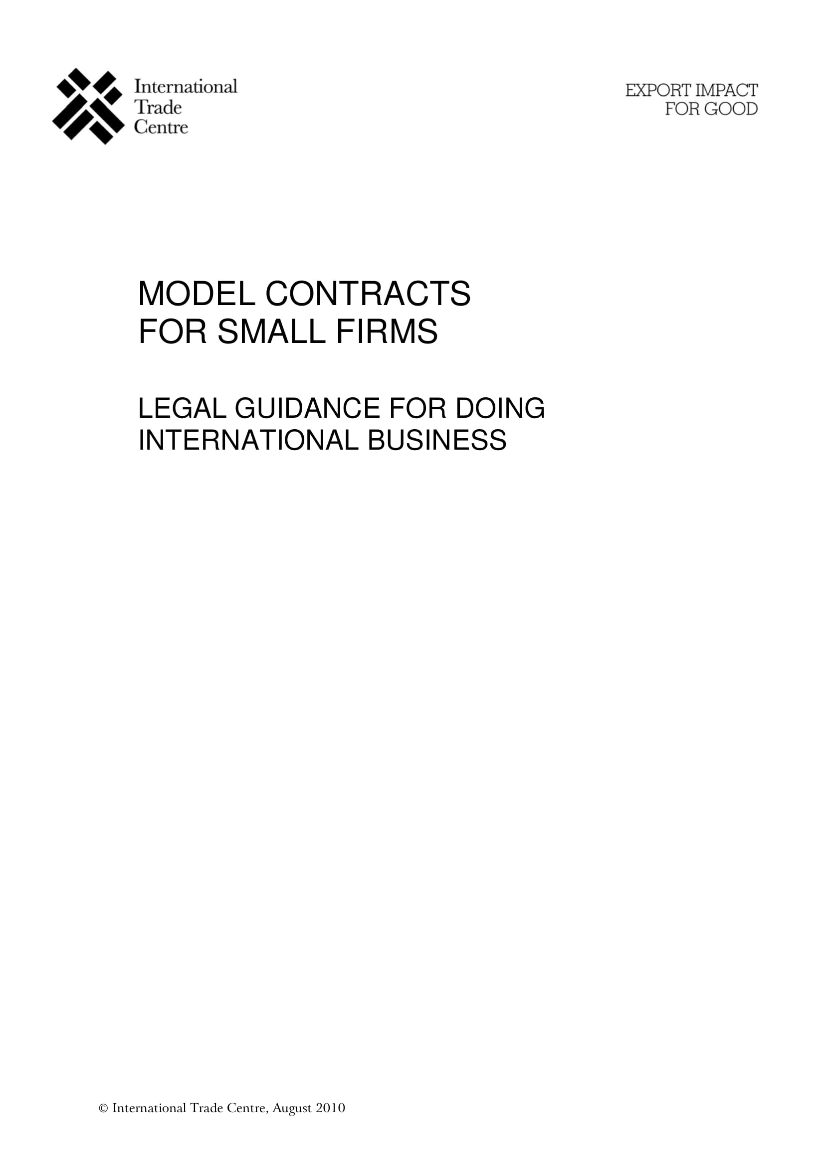 contract manufacturing agreement models for small firms example 01