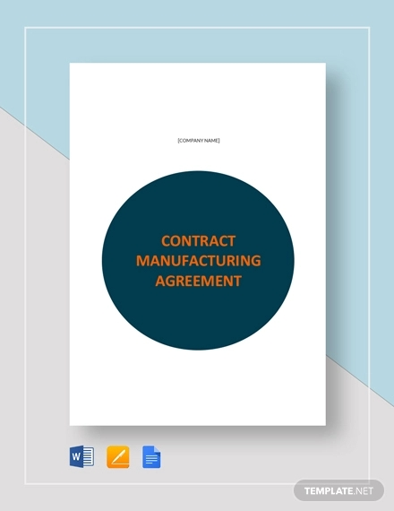 11 Contract Manufacturing Agreement Template Examples Pdf Google